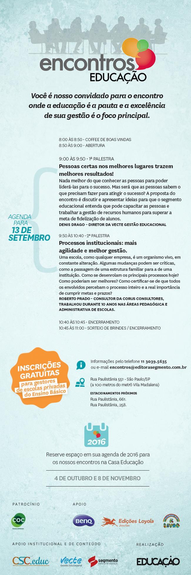 ENCONTROS EDUCAÇÃO – Processos institucionais: mais agilidade e melhor gestão.