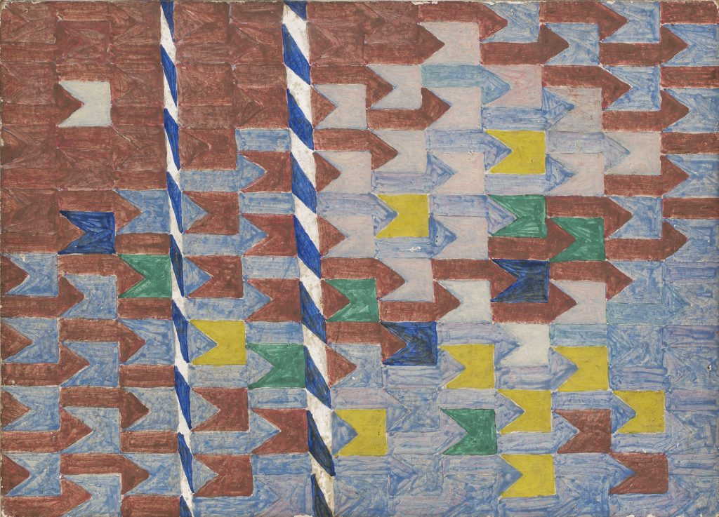 Volpi não nomeava nem datava seus quadros. Porém as obras com formas geométricas foram produzidas entre as décadas de 50 e 70. Foto: Sergio Guerini