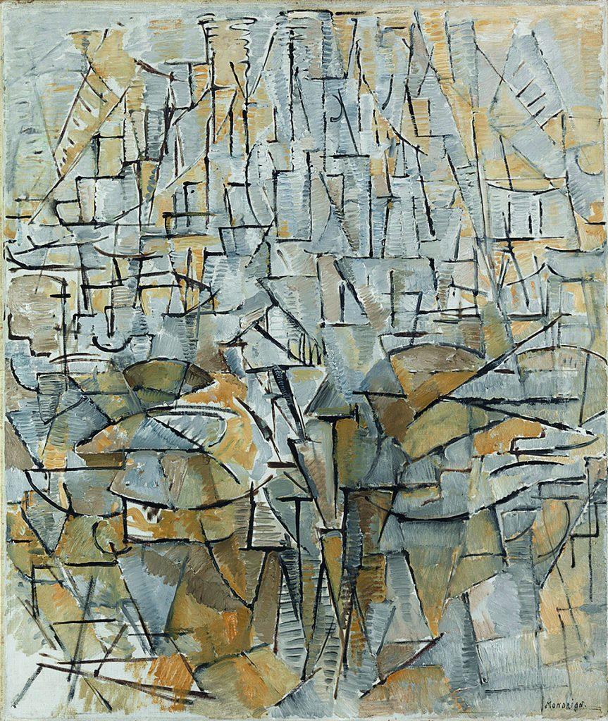 Piet Mondrian,  pintura nº 4, Composição nº VIII (1913) | © Gemeentemuseum Den Haag, Holanda