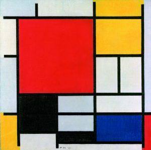 Piet Mondrian,   Composição com grande plano vermelho, amarelo, preto, cinza e azul (1921) | © Gemeentemuseum, Den Haag, Holanda