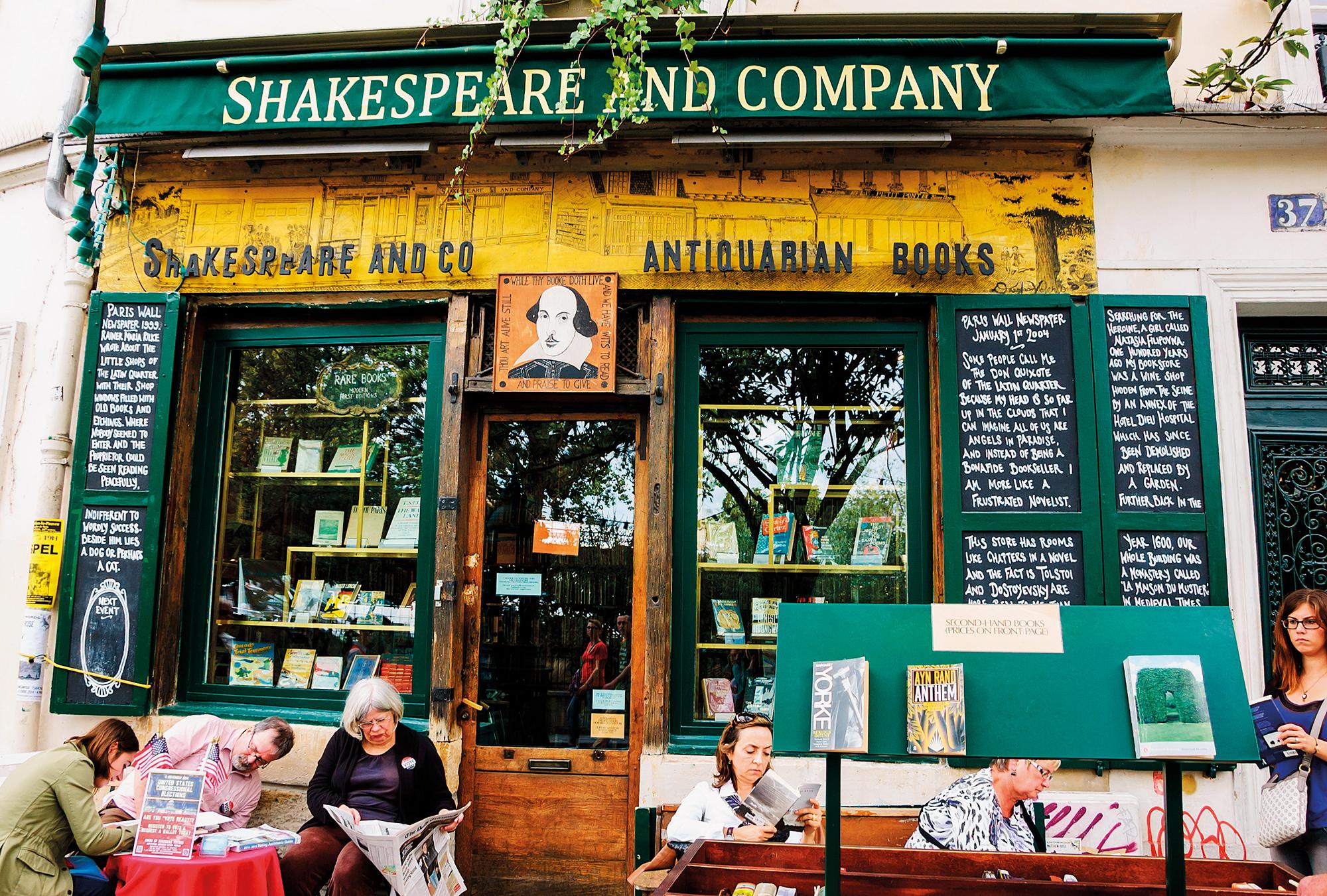 Shakespeare and Company: uma biblioria/livroteca num mundo distante... | Foto: Shutterstock