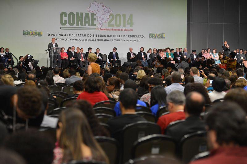 Abertura 2ª Conferência Nacional de Educação (Conae) (Crédito: Valter Campanato/Agência Brasil)