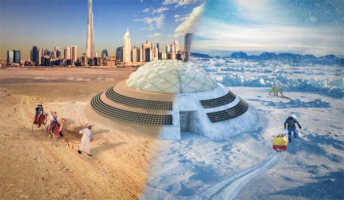 Com o apoio da Nasa, aluno do Belas Artes projeta habitação em Marte. Invento também poderia ser implantado em regiões inóspitas, como mostra a projeção