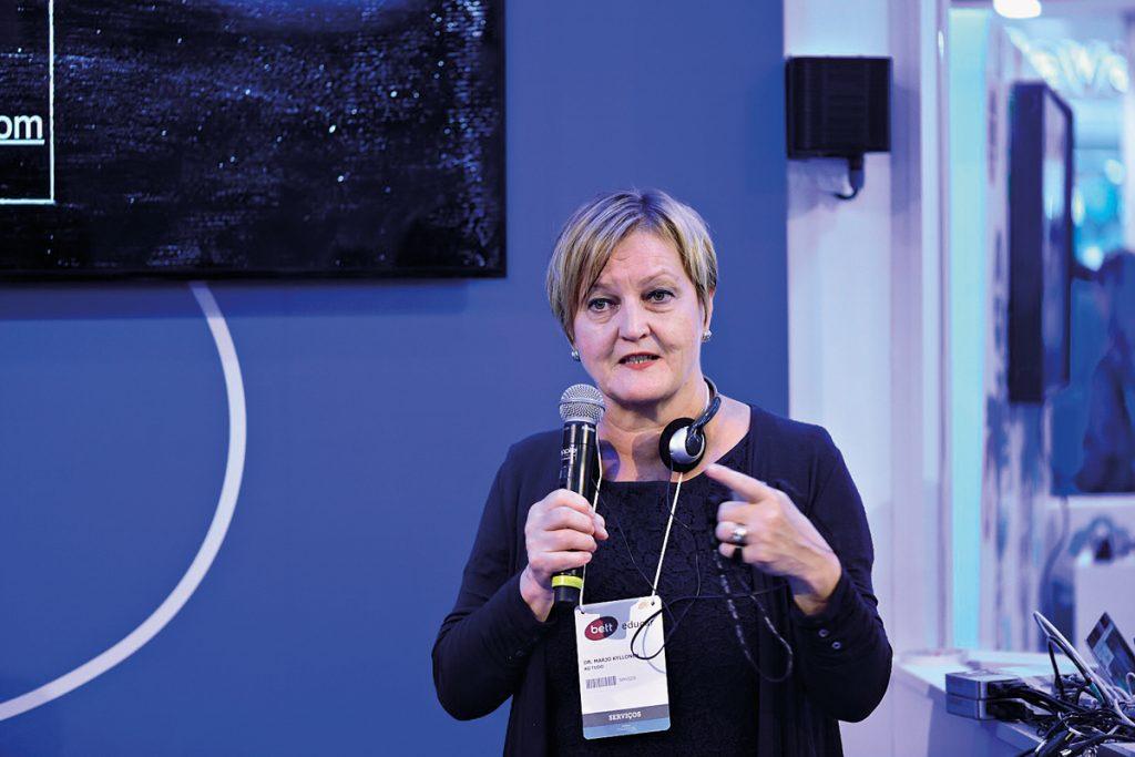 Marjo Kyllonen: secretária de Educação de Helsinque, Finlândia: valorização de uma educação colaborativa (Crédito: Gustavo Morita)