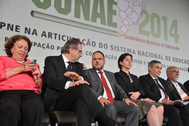 MEC divulga nomes de integrantes do Fórum Nacional de Educação. Na foto, abertura da 2ª Conferência Nacional de Educação (Conae). (Crédito: Valter Campanato/Agência Brasil)