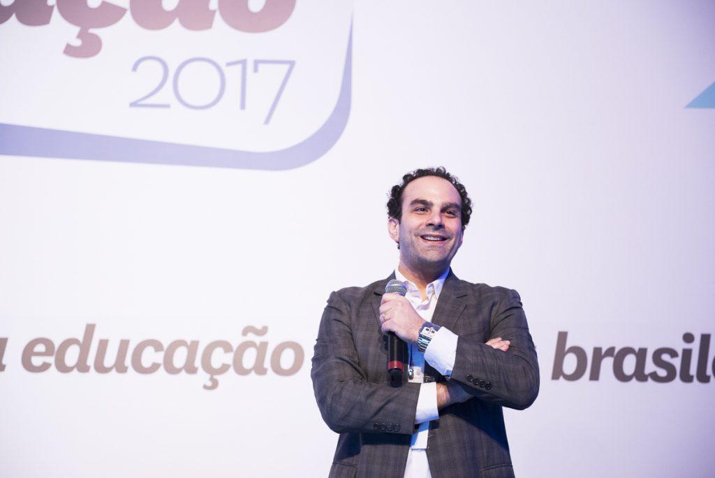 Alexandre Sayad falou sobre prototipagem em palestra no 3º Grande Encontro da Educação, em São Paulo (Crédito: Gustavo Morita)