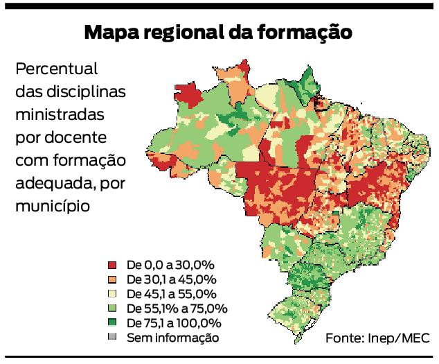 mapa formação professores